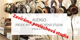 Pandemie v praxi: Audigo zavírá oblíbená poslechová studia v Praze a Brně