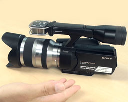 Sony NEX-VG10: Full HD videokamera (video)